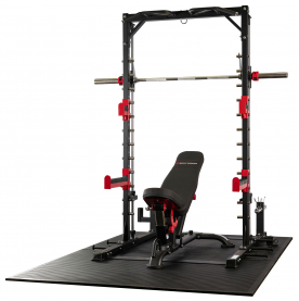 Body Power Smith Half Rack with Bench
