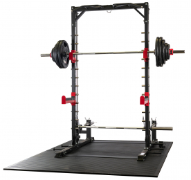 Body Power Smith Half Rack with Bench and 135Kg Weight Set