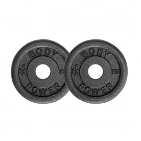 Body Power 1.25Kg Cast Iron Standard Weight Plates (x2)
