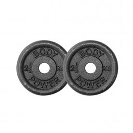 Body Power 2.5Kg Cast Iron Standard Weight Plates (x2)