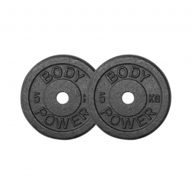 Body Power 5Kg Cast Iron Standard Weight Plates (x2)