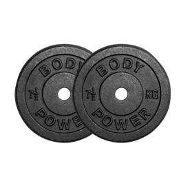 Body Power 7.5Kg Cast Iron Standard Weight Plates (x2)