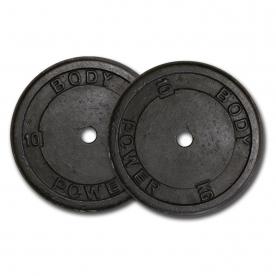 Body Power 10Kg Cast Iron Standard Weight Plates (x2)