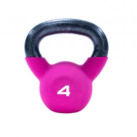 4kg Pink Neoprene Covered Kettlebell *DN