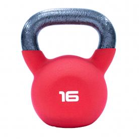 16kg Red Neoprene Covered Kettlebell *DN