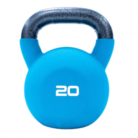 20kg Teal Neoprene Covered Kettlebell *D