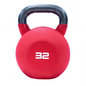 Jordan Fitness 32kg Red Neoprene Covered Kettlebell