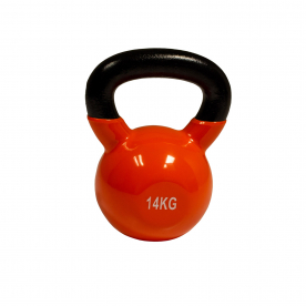 Body Power 14kg Vinyl Coated Kettlebell (x1)