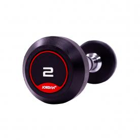 Jordan Fitness 2kg Classic Rubber Dumbbells (x2)