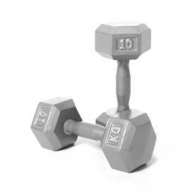 Body Power 10kg Hex Dumbbell (x2)