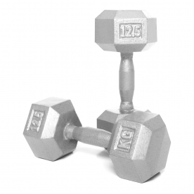 Body Power 12.5kg Hex Dumbbell (x2)