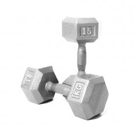 Body Power 15kg Hex Dumbbell (x2)
