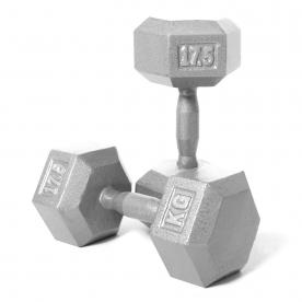 Body Power 17.5kg Hex Dumbbell (x2)