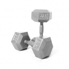 Body Power 22.5kg Hex Dumbbells (x2)