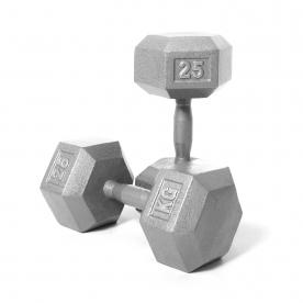 Body Power 25kg Hex Dumbbell (x2)