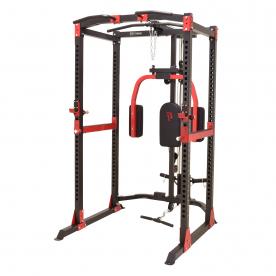 Body Power PR100 Power Rack with Lat Attachment & Pec Dec