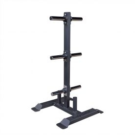 Body-Solid Full Commercial Bumper/Olympic Weight Tree with Bar Holder - Northampton Ex-Display Model (Collection Only)