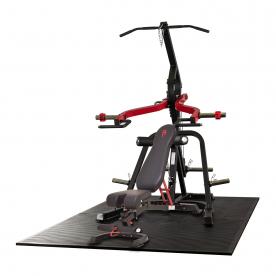 Body Power Leverage Gym with UB100 Bench, Leg Developer Attachment & Preacher Curl Attachment