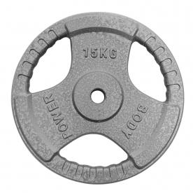 Body Power 15Kg Standard Tri Grip Weight Plates (x2)
