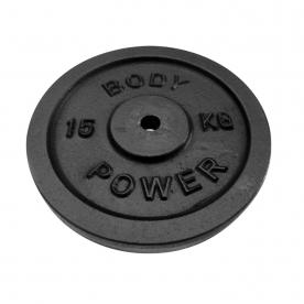 Body Power 15Kg Cast Iron Standard Weight Plates (x2)