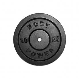 Body Power 20Kg Cast Iron Standard Weight Plates (x2)