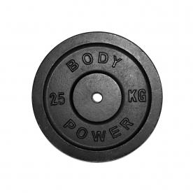 Body Power 25Kg Cast Iron Standard Weight Plates (x2)