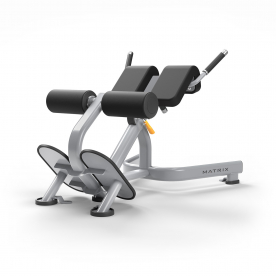 Matrix Fitness Commercial Magnum MG-A52 Back Extension - Iced Silver/Black Upholstery