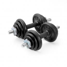 York 20kg Cast Iron Spinlock Dumbbell Set