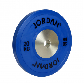 Jordan Fitness 20Kg Calibrated Colour Rubber Competition Plate - Blue (x1)