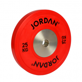 Jordan Fitness 25Kg Calibrated Colour Rubber Competition Plate - Red (x1)