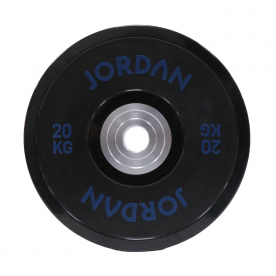 Jordan Fitness 20kg Urethane Competition Plate - Black with Blue text (x1)