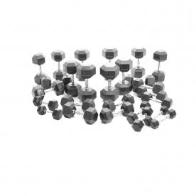Body Power 2Kg-30Kg Rubber Encased Hex Dumbbell Set (13Prs)