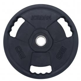 Jordan Fitness 20kg Classic Premium Rubber Olympic Disc (x1)