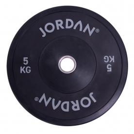Jordan Fitness 5Kg HG Black Rubber Bumper Plate (x1)