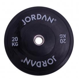 Jordan Fitness 20Kg HG Black Rubber Bumper Plate (x1)