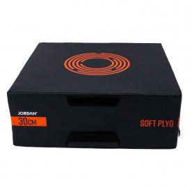 "Jordan Fitness 12"" Soft Plyo Box (Black/Orange)"