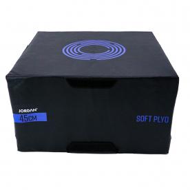 "Jordan Fitness 18"" Soft Plyo Box (black/purple)"