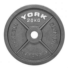 York 20Kg Cast Iron Olympic Plate (x1)