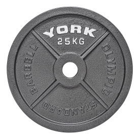 York 25Kg Cast Iron Olympic Plate (x1)