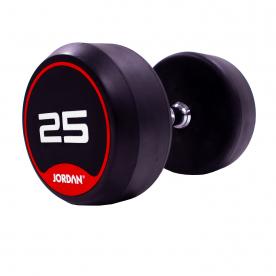 Jordan Fitness 25kg Classic Rubber Dumbbells (x2)