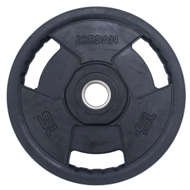 Jordan Fitness 15kg Classic Premium Rubber Olympic Disc (x1)