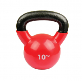 Fitness-MAD 10kg Kettlebell - Raspberry Red