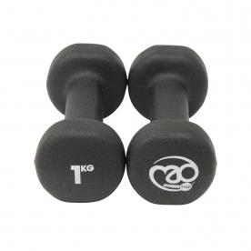 Fitness-MAD 1kg Neo Dumbbells Pair - Black