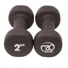 Fitness-MAD 2kg Neo Dumbbells Pair - Black