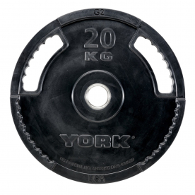 York 20Kg G2 Rubber Thin Line Olympic Plate (x1)
