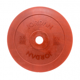Jordan Fitness 2.5kg Olympic Solid Technique Plate - Red (x2)