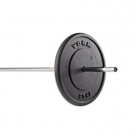 York 25Kg Black Cast Iron Standard Weight Plate (x1)