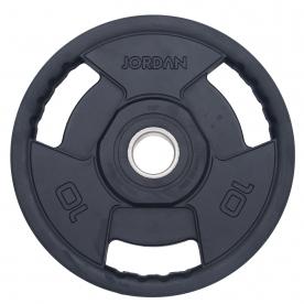 Jordan Fitness 10kg Classic Premium Rubber Olympic Disc (x2)