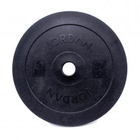 Jordan Fitness 5kg Olympic Solid Technique Plate - Black (x2)
