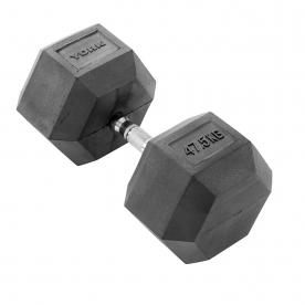 York 47.5kg Rubber Hex Dumbbell (x1)